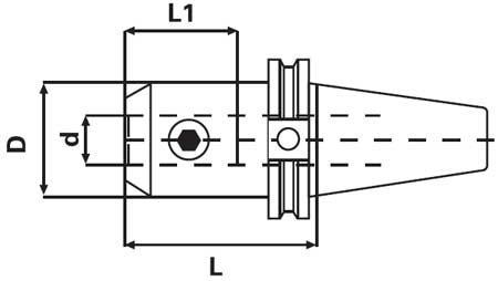 GS CAT40 5//8 x 4.00 20K RPM CNC DIN Coolant Thru Flange End Mill Holder-.0002 TIR