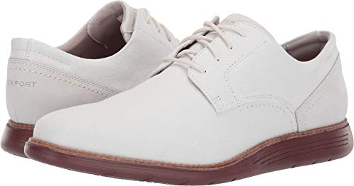 Rockport Men's Total Motion Sports Dress Canvas Plain Toe Nip White/Illusion Blue 11 M US