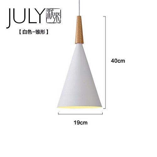 Oncemore Le vent nordique en bois industriel moderne minimaliste couture chandeliers en fer de la personnalité créative Restaurant Bar,WhiteC