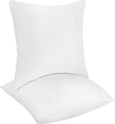 Utopia Bedding Throw Pillows Insert (Pack of 2, White) - 18 x 18 Inches Bed and Couch Pillows - Indoor Decorative Pillows (Pillows Clearance Couch)