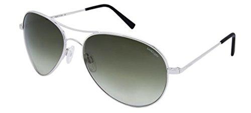 Randolph Women's Amelia Aviator Sunglasses, Rhodium Polished, 57 mm (Randolph Engineering Case)