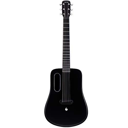 - Dreadnought Acoustic Guitar Complete Beginner Kits Set Bundle with Premium Case Bag,Guitar Picks By LAVA ME 2 (Acoustic -black)