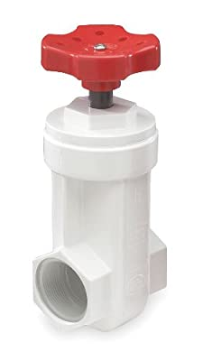 Gate Valve, 3/4 In., Fnpt, Pvc by Flo-Control by Nds