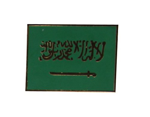 Yantec Flaggenpin Saudi Arabien rechteckig Pin Anstecknadel Fahnenpin