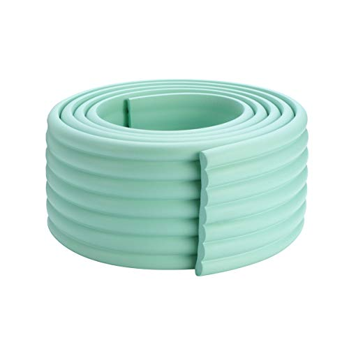 Extra Thick & Wide Baby Proofing Edge and Corner Guard, BabyElf DIY Child Safety Foam Cushion Furniture Bumpers (6.5 ft, Mint Green)