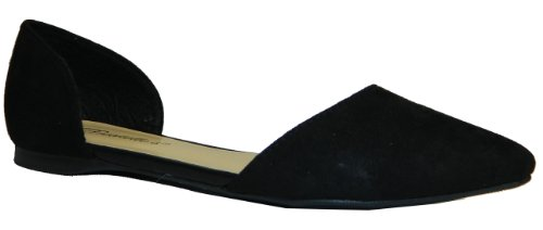 Breckelle Dolley-03,22,23/Qupid Pointer-54 Pointed Toe D'orsay Ballet Flats Shoes,Dolley-23 Black 8.5
