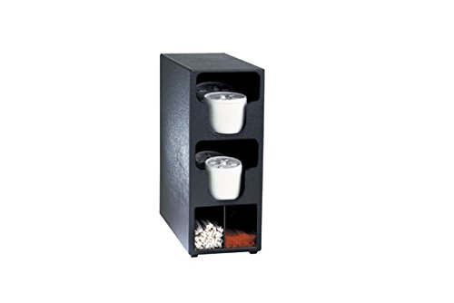 Dispense-Rite TLO-2BT Two Section Countertop Vertical Lid and Straw Organizer