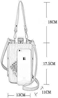2019 New Oblique Span Kleine Tasche Sweet Fashion Diamantbesetzte Blumen Eine Umhängetasche Damentasche Kleine quadratische Tasche Hellgold