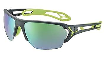 Cébé STrack L Gafas de Sol Adultos Unisex Matt Grey Lime ...
