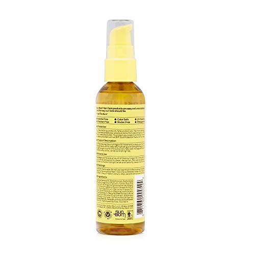 Sun Bum Coconut Argan Oil, Vegan and Cruelty Free Protecting and Strengthening Oil for All Hair Types, 3 oz, Clear…