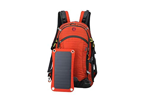 BELLABYDESIGNLLC Solar Power Backpack 42L Power Bank Charger Solar Panel Backpack with 6.5W Design Solar Bag Charger