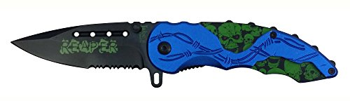 Biker Skull Zombie Knife Assisted product image