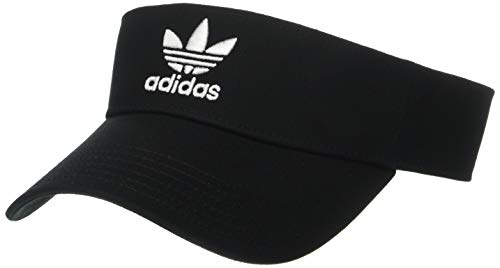 adidas Men's Originals Twill Visor, Black/White, One Size