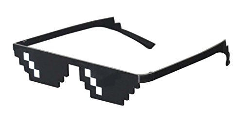 Thug Life Sunglasses Pixelated Mosaic 8-Bit Gamer Geek One Piece - Wear Geek Glasses