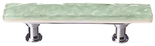 Sietto SP-201-PC Skinny Glacier Pull with Polished Chrome Base, Spruce Green