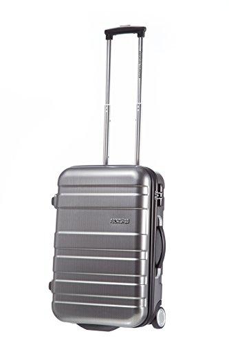American Tourister Koffer Pasadena Upright 55/20 28 Liter Silber (Check Black/Silber) 53192-2601