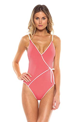 Becca-by-Rebecca-Virtue-Womens-Wrap-Front-Lingerie-Strap-One-Piece-Swimsuit-Swimsuit