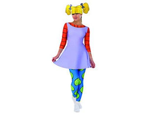 rugrats Angelica Costume Women Medium 10-14 Dress Halloween Dress (Rugrats Angelica Costumes)