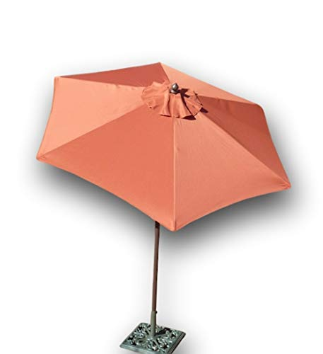 Formosa Covers 7.5 Foot Aluminum Market Umbrella, Crank Tilt, Strong Fiberglass Ribs, UV Treated, Perfect for Patio, Small Bistro, Deck – Color in Terra