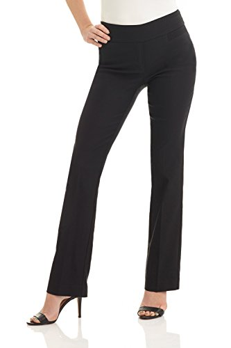 Rekucci Women's Ease in to Comfort Boot Cut Pant (16SHORT,Black)