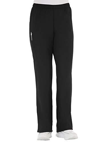 (Fundamentals 14720 Women's Cargo Pocket Scrub Pant Black 5XL)