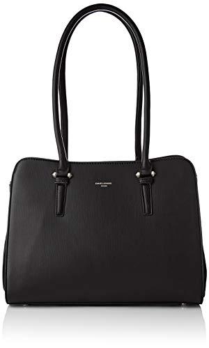 David Jones Women's 5812-2a Shoulder Bag Black (Black)
