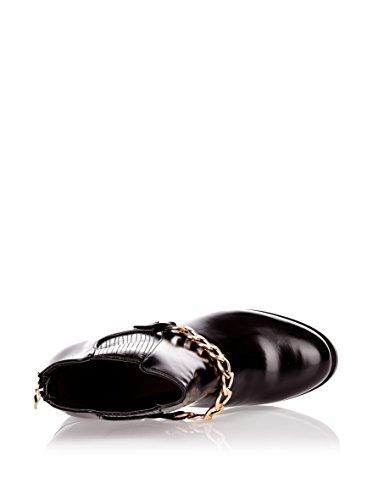 CM 1115 47 Kurzstiefeletten mit Zierkette black, Groesse:39.0