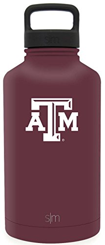 Simple Modern 64oz Summit Water Bottle - Texas A&M Aggies Vacuum Insulated 18/8 Stainless Steel Travel Mug - Texas A&M