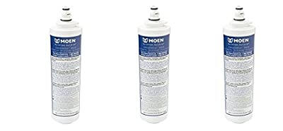 Moen 9601 ChoiceFlo Replacement Water Filter Compatible with Moen Sip Filtered Kitchen Faucets (3-(Pack))