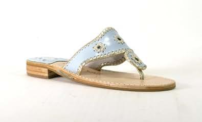 Jack Rogers Westport Glaze Sandal (Light Blue/Platinum, 9.5)