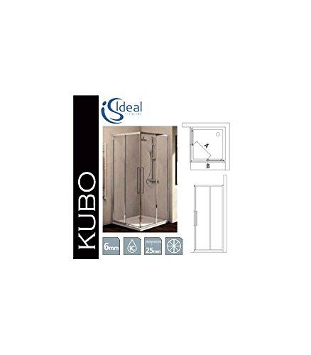 Ideal Standard Cabina Doccia Kubo.Ideal Standard Kubo A Lato 140 Profili Brill Lucido Vetro