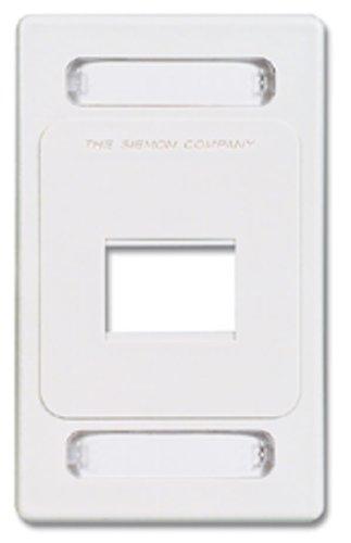 MX-FP-S-02-02 - Siemon 2-Port Single Gang Faceplate, White, Pack of 4