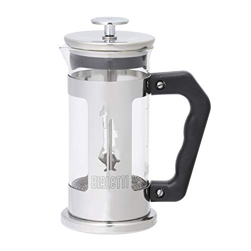 Bialetti Stainless Steel Coffee Press - Bialetti 6860 Preziosa Stainless Steel 3-Cup French Press Coffee Maker, Silver
