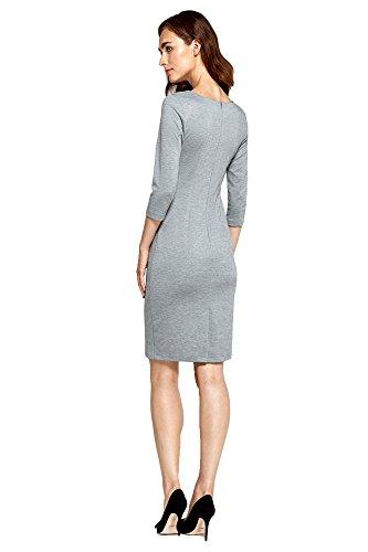 Kurzen Ärmeln Grau Damen mit 4 Freizeitkleid Kleid 3 Nife vw1Ia