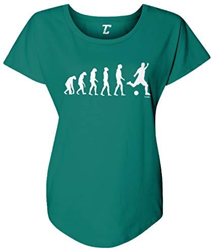 Evolution to Soccer - Futbol Sports Women's Dolman (Jade, Small)