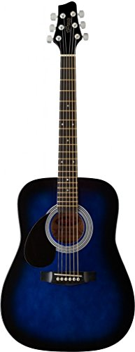 Starion ST-SW201 3/4 LH BLS Left Handed 3/4 Sized Dreadnought Acoustic Guitar - Blueburst
