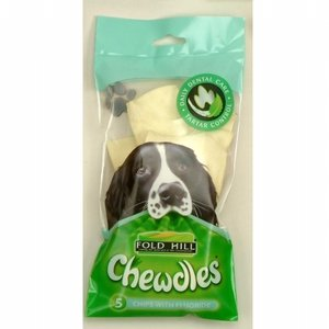 Foldhill Chewdle Chips Fluoride Dog Treats x 5 by Fold Hill