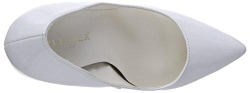 Pleaser EU-SEXY-20 - Zapatos de tacón de material sintético mujer blanco - Weiß (White pat)