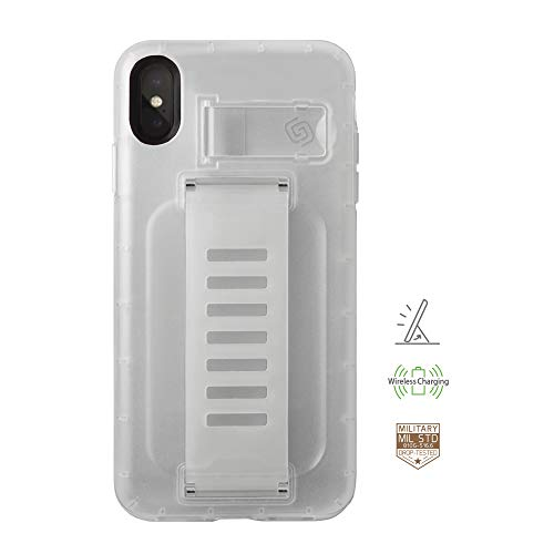 e iPhone Xs Max Clear Phone Case Grip2ü GettaGrip [Boost with Kickstand] Enhanced Protection Grip CASE [Clear] Slim Protection Cover with Grip and Kick Stand ()