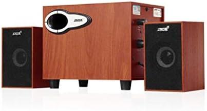 CHAOQIANG スピーカー、ノートブックデスクトップコンピューターオーディオ、USB電源携帯電話ミニ木製スピーカー、マホガニー (Color : Brown)