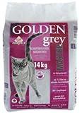 Golden Grey Lot de 2 sacs de litière parfumée pour chaton Contient de la silice Gris 14kg chacun