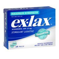 Ex Lax Laxative - Ex-Lax Ex-Lax Pills Maximum Relief, 48 ct (Pack of 3)