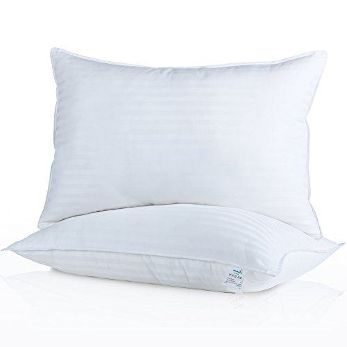 Milddreams Pillows for Sleeping 2 Pack Queen Size 20x30 inch - Set of 2 Bed Pillows - Best Hotel Pillow - Soft Hypoallergenic Material Goose Down Alternative