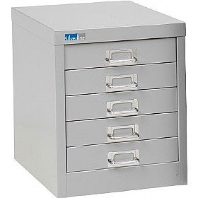 Silverline  Drawer Lockable Multi Drawer Cabinet Light Grey