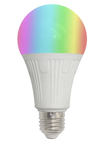Smart Wi-Fi Light Bulb, Alexa Google Home Compatible IFTTT iOS Android Smartphone Wireless Remote Control, 7W LED E26, Infinite Color Options, Timer and Schedule, 60W Equivalent, No Hub Required by Smart Home Products