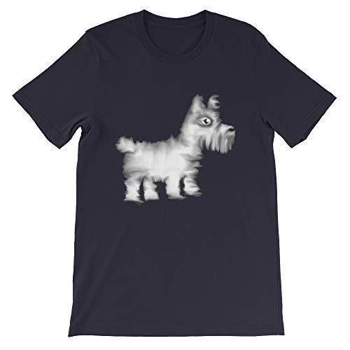 (Cool Animal Unisex T-Shirt Westie Dog Navy)