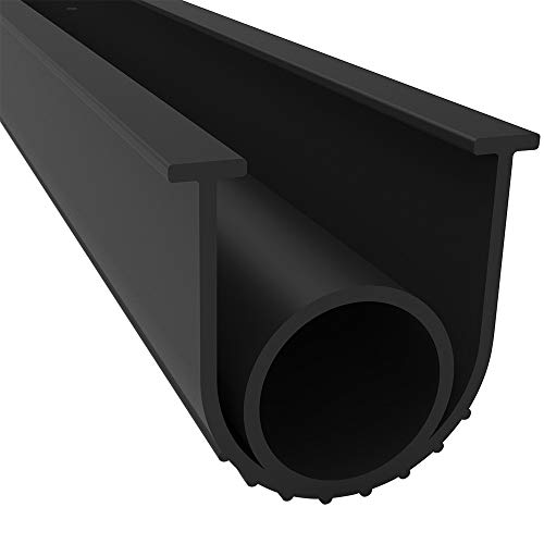 BOWSEN Garage Door Bottom Seal Weatherproofing Threshold Buffering Rubber Replacement Black 5/16 Inch T-End,20ft Long