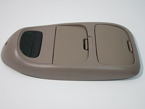 99 00 01 02 03 FORD F150 OVERHEAD CONSOLE DIGITAL TEMP COMPASS DISPLAY TAN