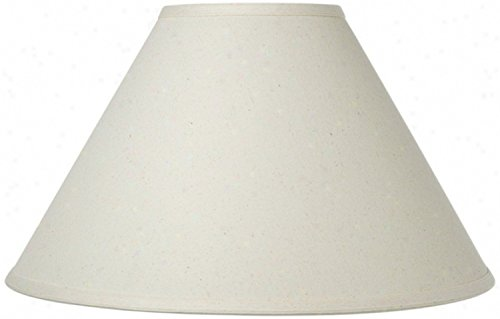 Upgradelights White Linen 14 Inch Chimney Style Lampshade Re