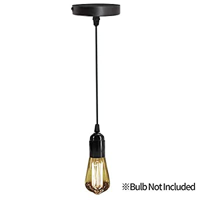 Pendant Lighting Industrial Hanging Lights Semi Flush Mount Ceiling Light Hanging Light Fixture Cord E26 Socket